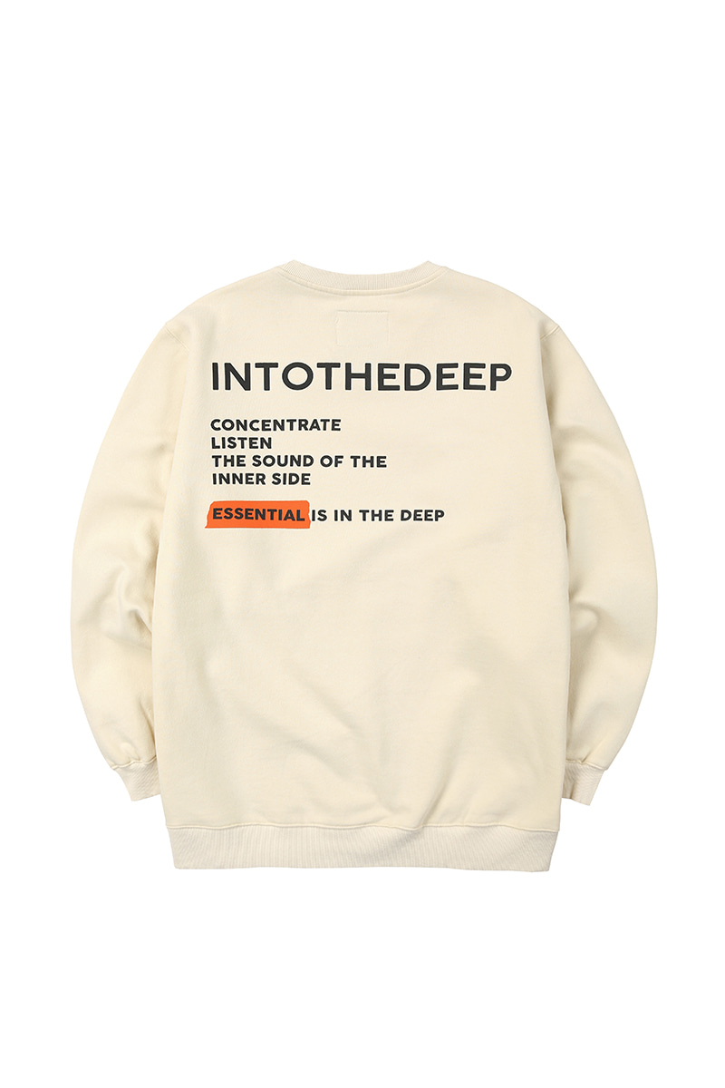 TEXT TAPE crewneck - creamHOLIDAY OUTERWEAR
