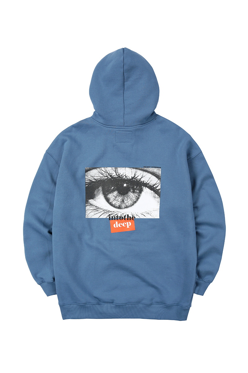 DEEPEYES hoodie - bluegrayHOLIDAY OUTERWEAR