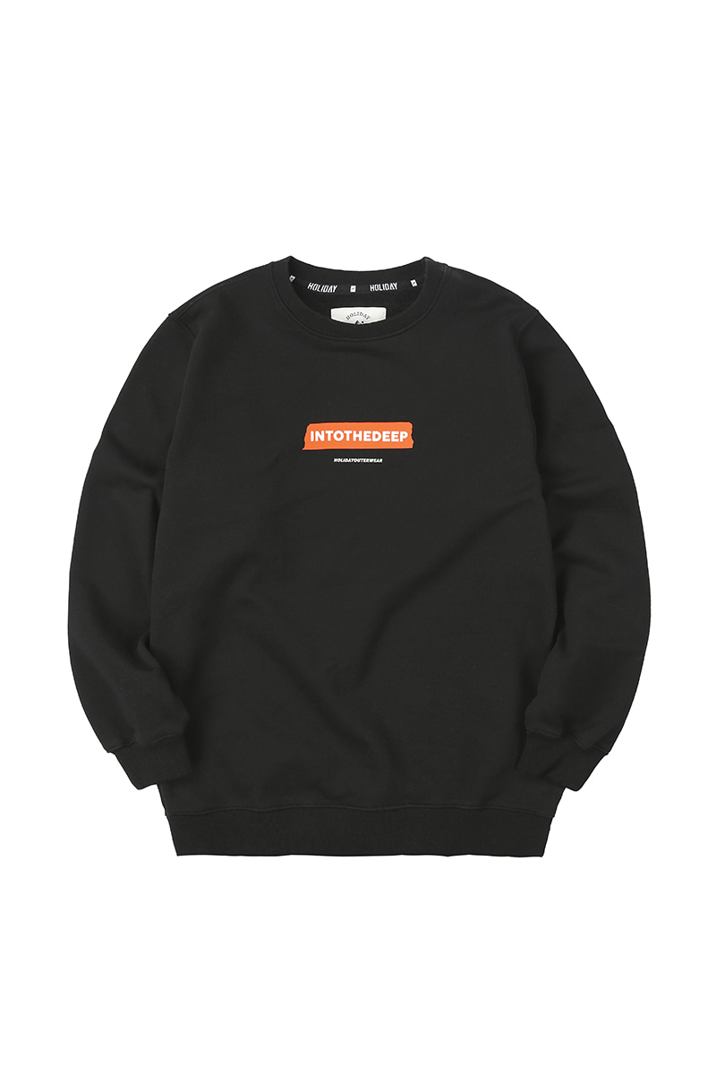 TEXT TAPE crewneck - blackHOLIDAY OUTERWEAR