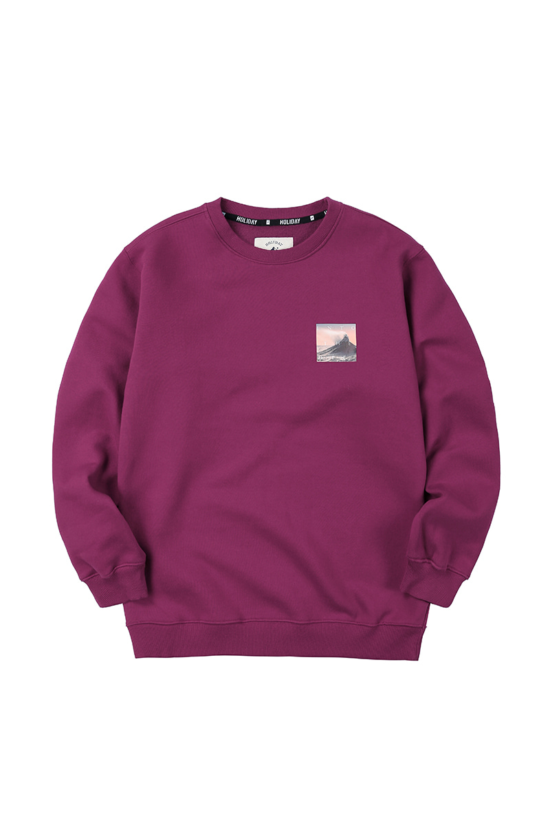CRUMBLE crewneck - purpleHOLIDAY OUTERWEAR